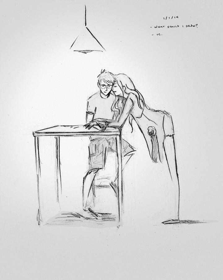 Ilustración simple cargada de ternura capaz de emocionar