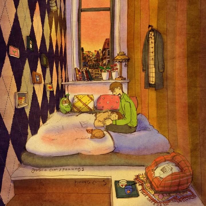 Toda una serie de ilustraciones homenajeando al amor, el sentimiento más universal
