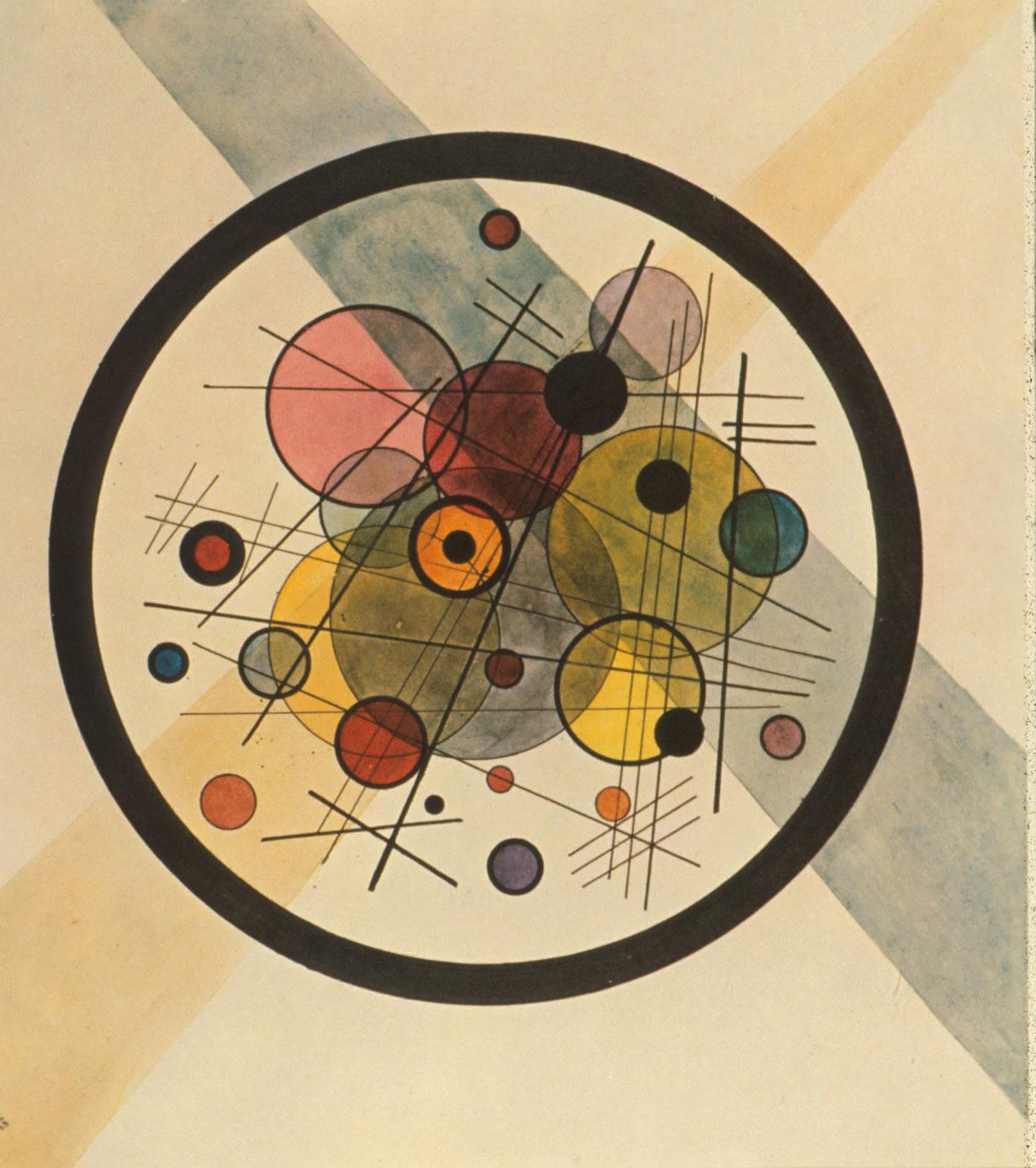 Círculos en un círculo, W. Kandinsky 1923