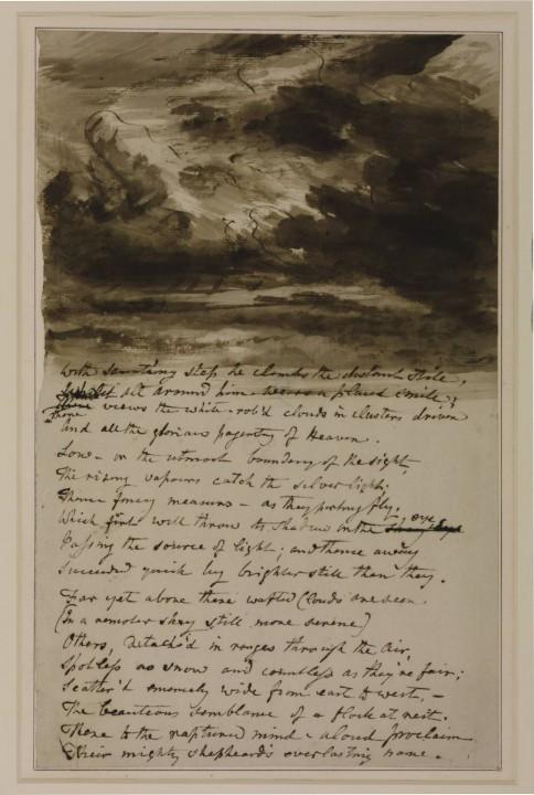 Estudio para nubes, libro de bocetos. J Constable