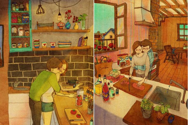 Tiernas ilustraciones, sentimientos y arte siempre de la mano