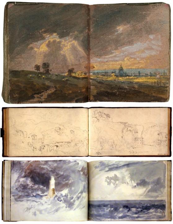 Cuaderno para bocetos en acuarela. Turner