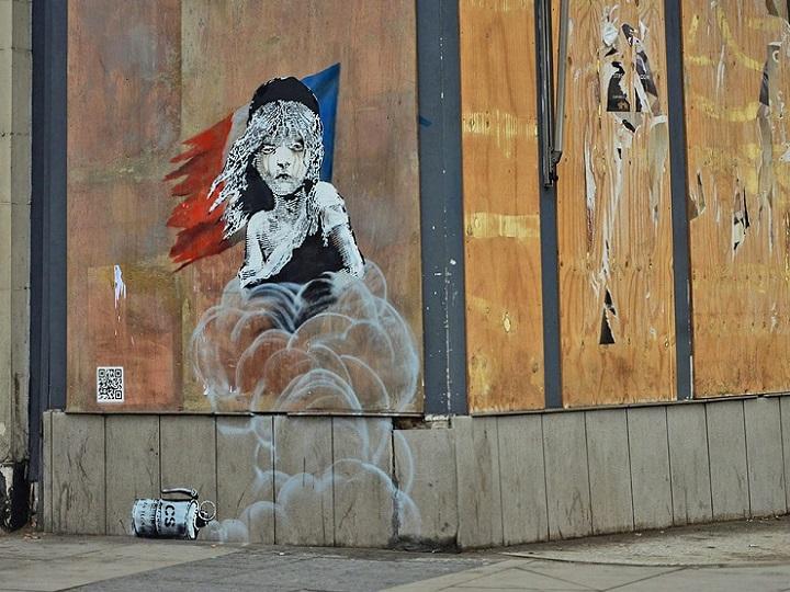 Graffiti de Banksy en la Embajada Francesa