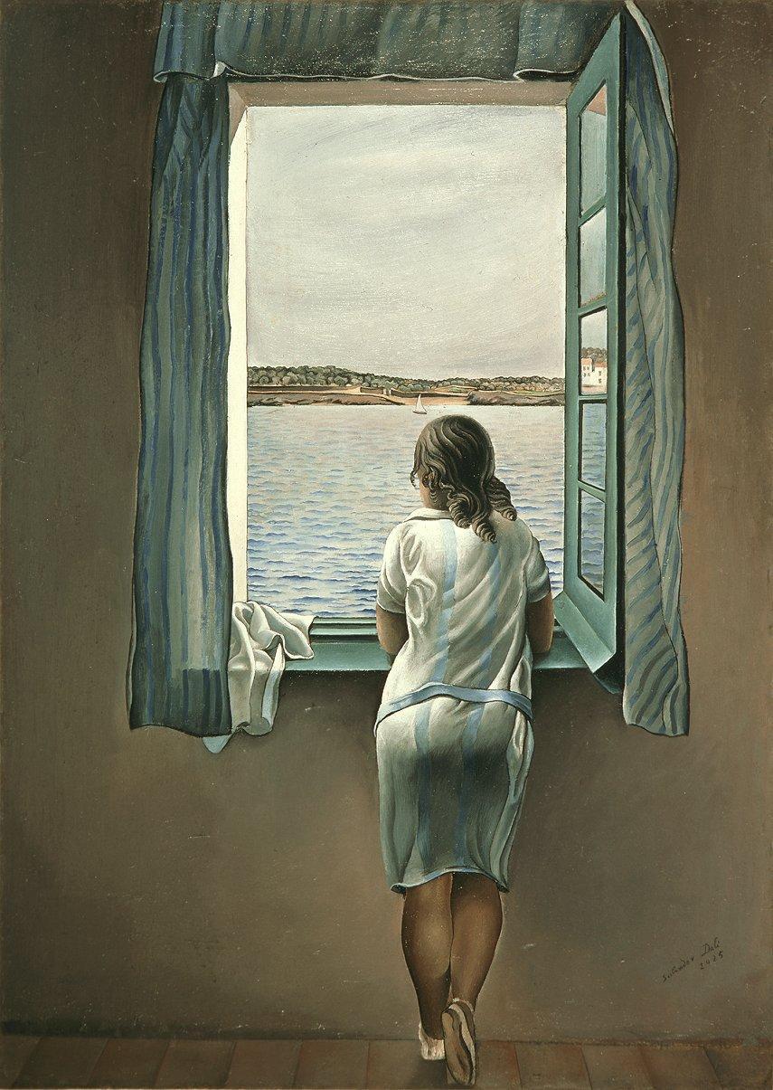 muchacha-en-la-ventana-salvador-dali
