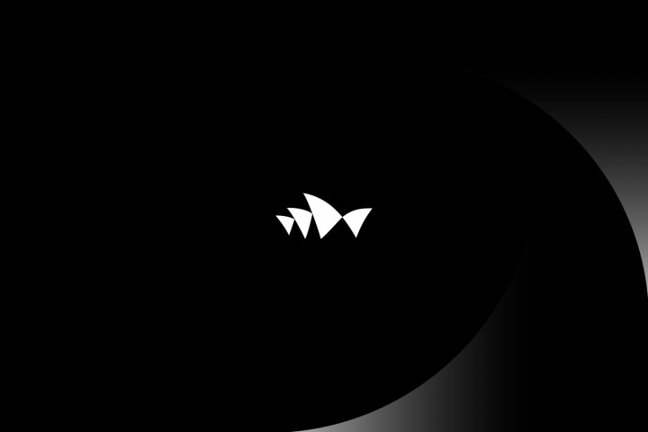 Imagen corporativa de la Sydney Opera House en Australia, de corte minimalista, esquemático, sutil y dinámico