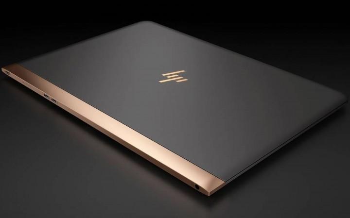 Logotipo de la marca HP para dos productos premium, rebranding de lujo
