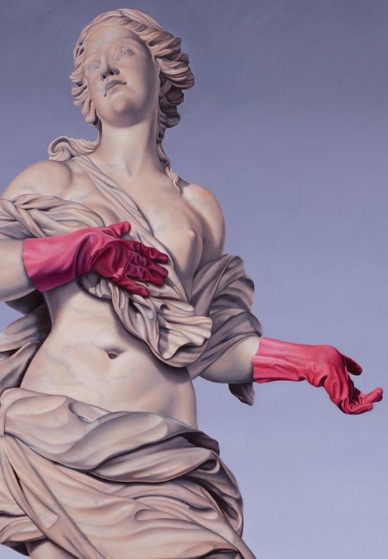Matthew Quick, domestic godness, 2015. Óleo sobre lienzo, 100 x 120 cm.
