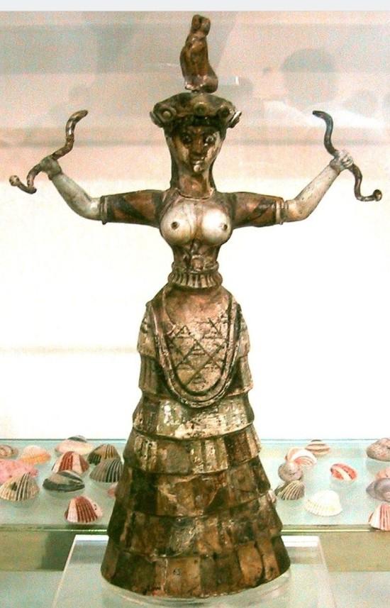 Diosas de las serpientes minoica