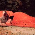 Muchacha leyendo.