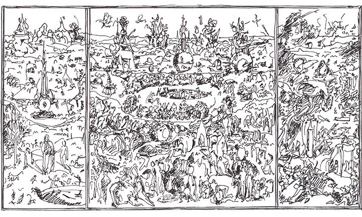 """Interpretación de """"El jardín de las delícias"""" El Bosco"""
