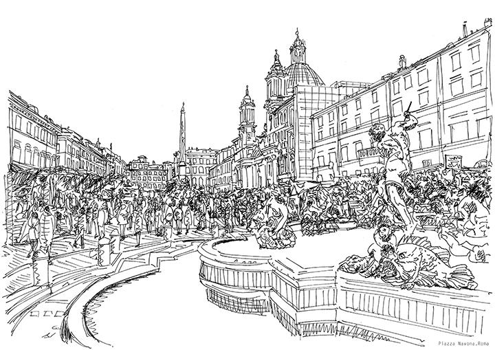 Piazza Navona. Roma