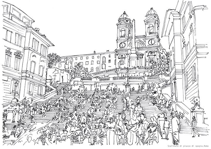 Scalinata di piazza di spagna. Roma 1