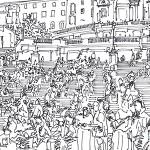 Scalinata di piazza di spagna.Roma 1
