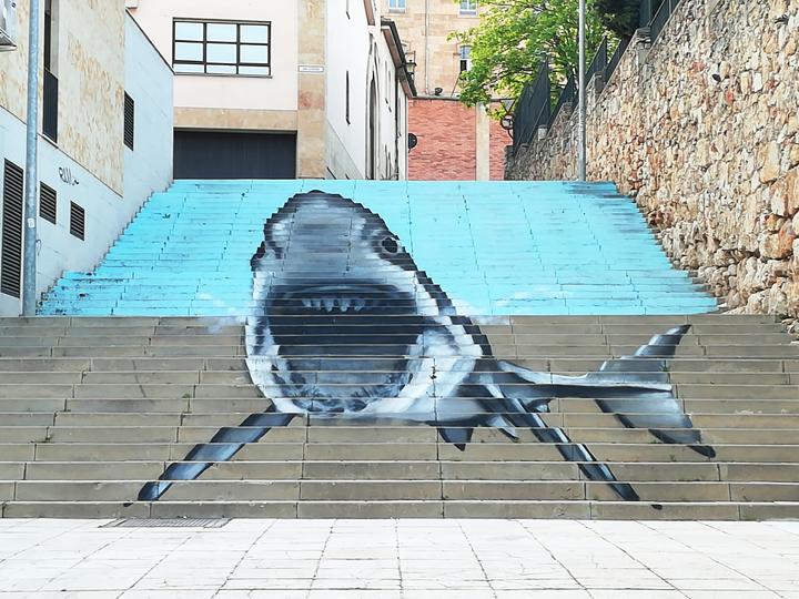 Graffiti, urban art, street art, por el artista Nego