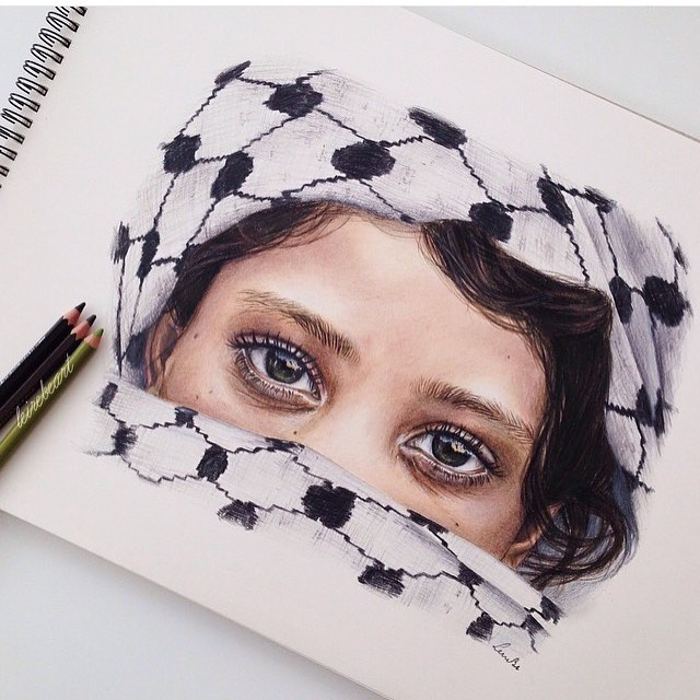 #FreePalestine by @LeireBeArt