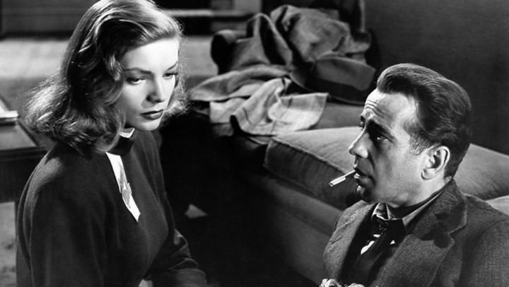 "Humphrey Bogart y Lauren Bacall en ""El sueño eterno"" de Howard Hawks"