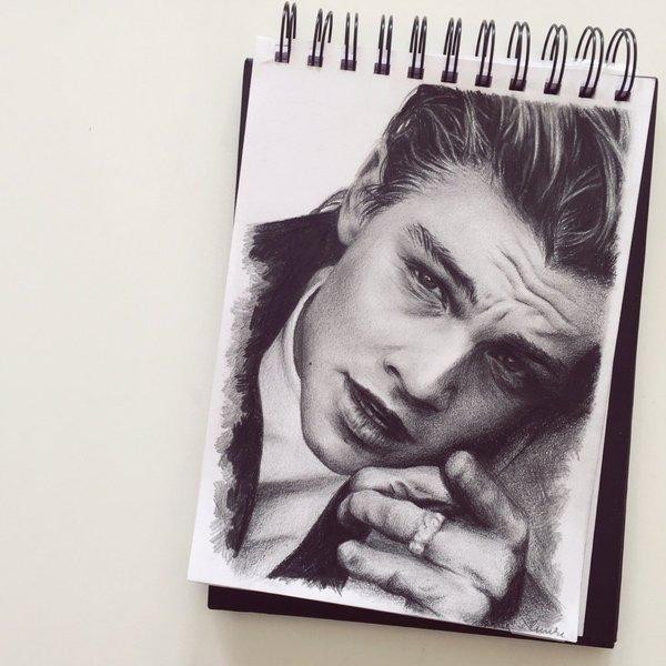 Dibujo de Leonardo DiCaprio sin Oscar