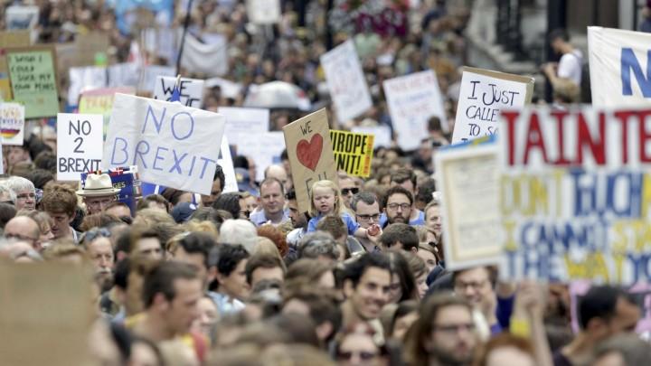 Manifestantes en la manifestación del pasado 2 de julio en Londres.