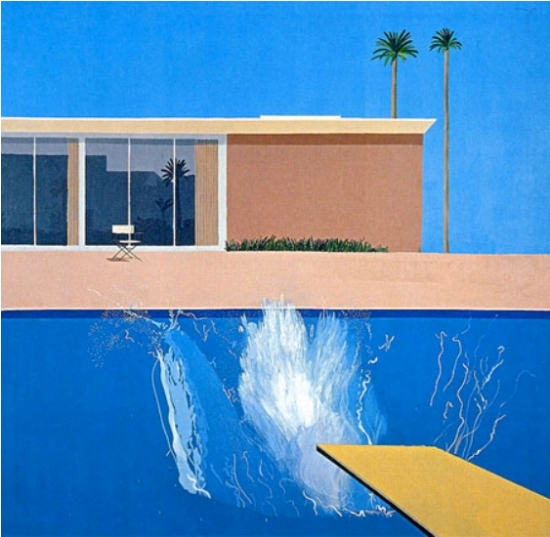 "David Hockney, A Bigger Splash, 1967. Acrílico sobre lienzo, 96"" x 96"""