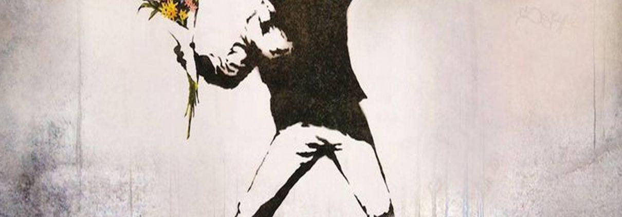 Una de las imágenes más famosas del grafitero.