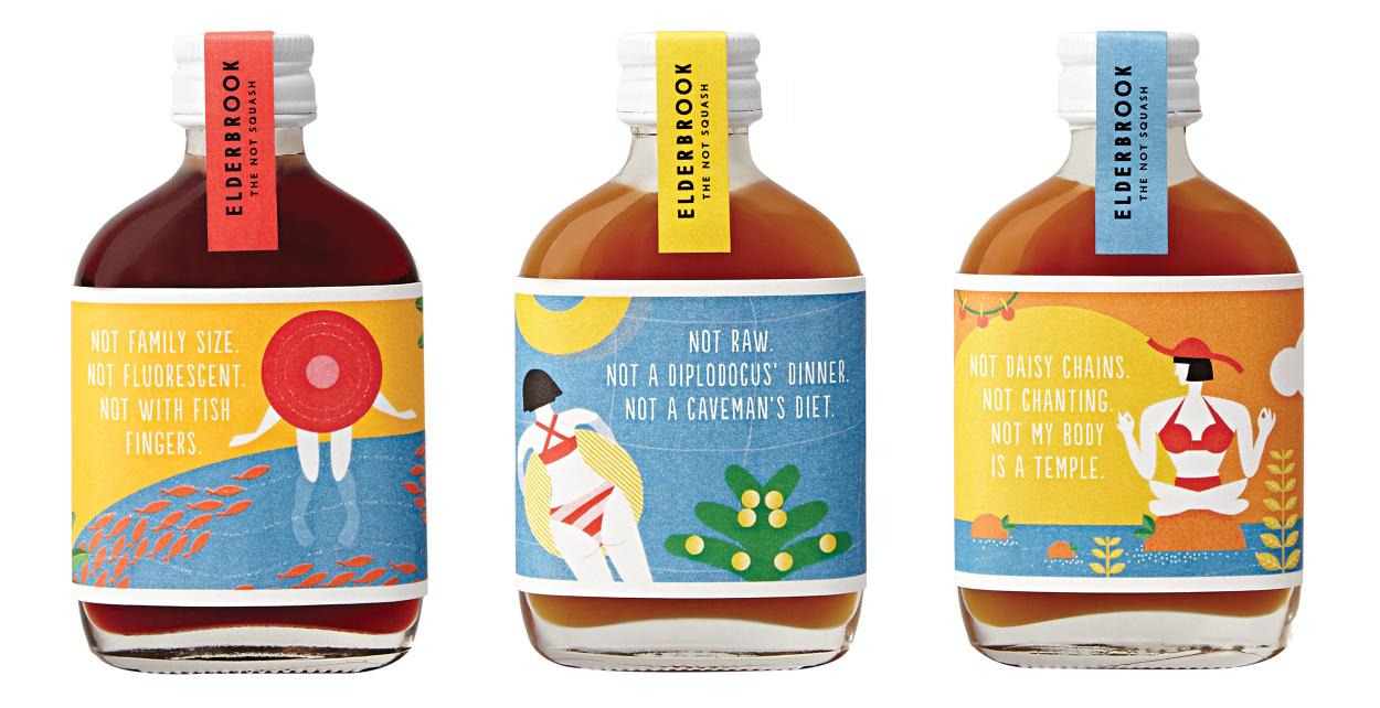 Gran Packaging Elderbrook Drinks presenta exóticos sabores y no menos exóticos y sugerentes diseños
