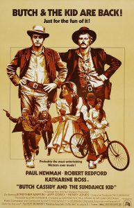 "Cartel película ""Butch Cassidy and the Sundance Kid""."