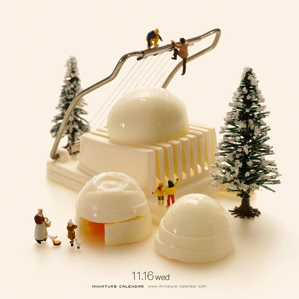 calendario en miniatura por Tanaka Tatsuya