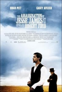 "Cartel película ""The Assasination of Jesse James by the Coward Robert Ford""."