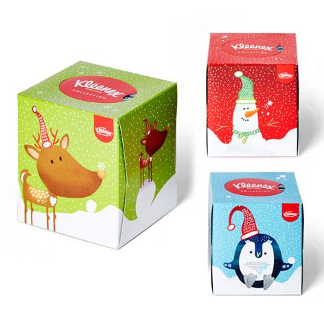 kleenex navidad xmas packaging