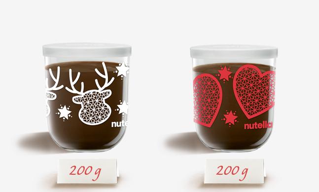 Tarros decorativos de otra marca lider de alimentación como es Nutella