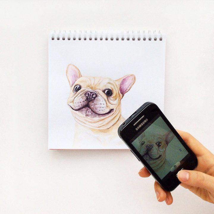 Combinación de fotografía e ilustración con divertidos resultados