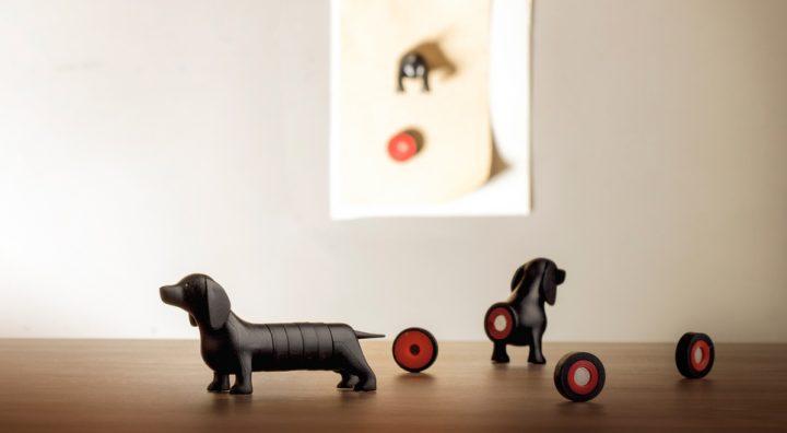 Imanes decorativos perro salchicha de la marca Qualy