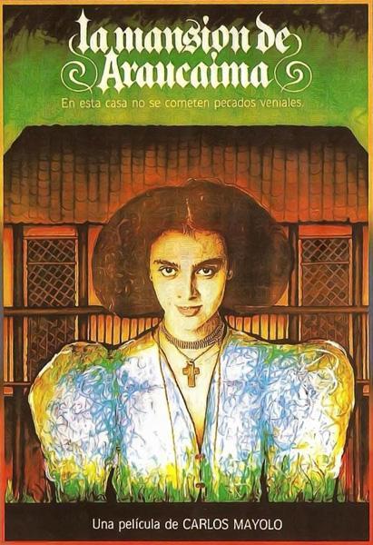 """Cartel película """"La Mansión de Araucaima"""", de Carlos Mayolo."""