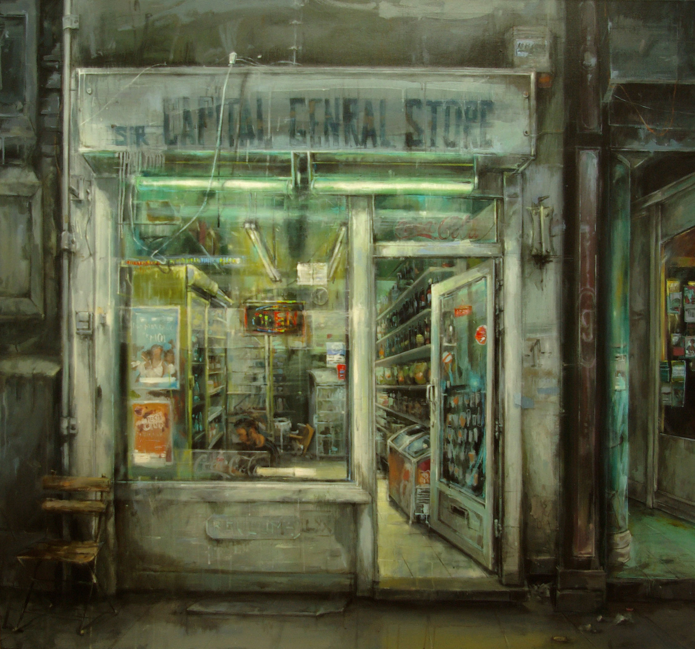 Leticia Gaspar. Sir Capital Genral Store. Técnica mixta, 150 x 140 cm