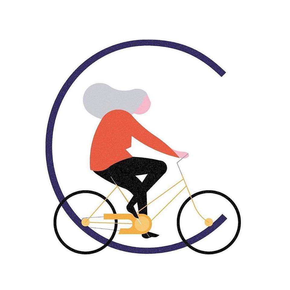 """36 Days of Type - """"C"""" de ciclismo by @egge_bcn"""