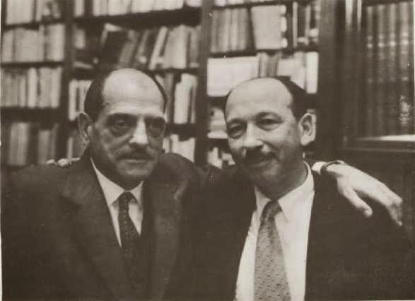 Luís Buñuel y Ricardo Urgoiti, años después de la disolución de Filmófono