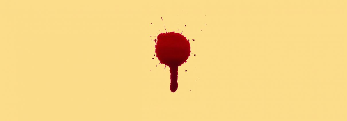 Blood droplet splat and drip